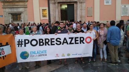 Manos Unidas Manifestación Pobreza Cero