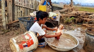 Daños ocasionados por el tifón Rolly en Filipinas. Foto: BCDI/Manos Unidas