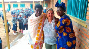 Ana Ruiz en Ruanda con Manos Unidas