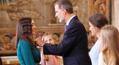 Natalia Diaz Martín, condecorada con la Orden del Mérito Civil.© Casa de S.M. el Rey