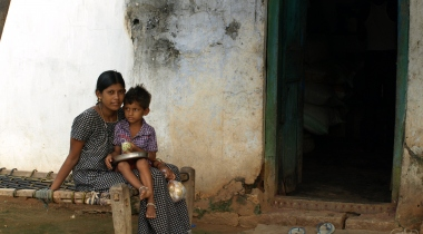 Niños en Warangal. Proyecto seguridad alimentaria. India. Foto: Manos Unidas/María José Pérez