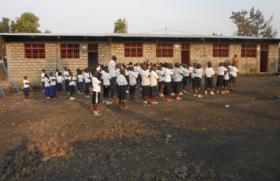 Escuela de primaria de Goma. RDC