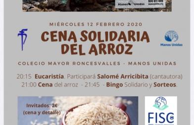 Cena solidaria del arroz en el Colegio Mayor Roncesvalles