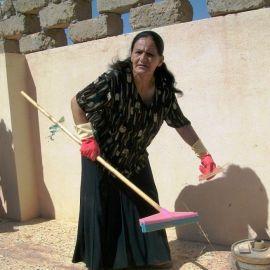 Mujer iraquí en un cursillo de medioambiente.