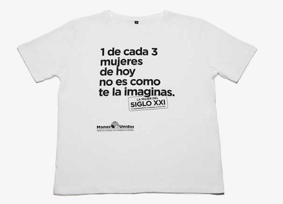 Camiseta de mujer. La mujer del siglo XXI